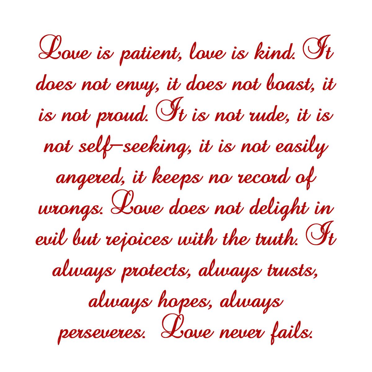 love is good love is kind